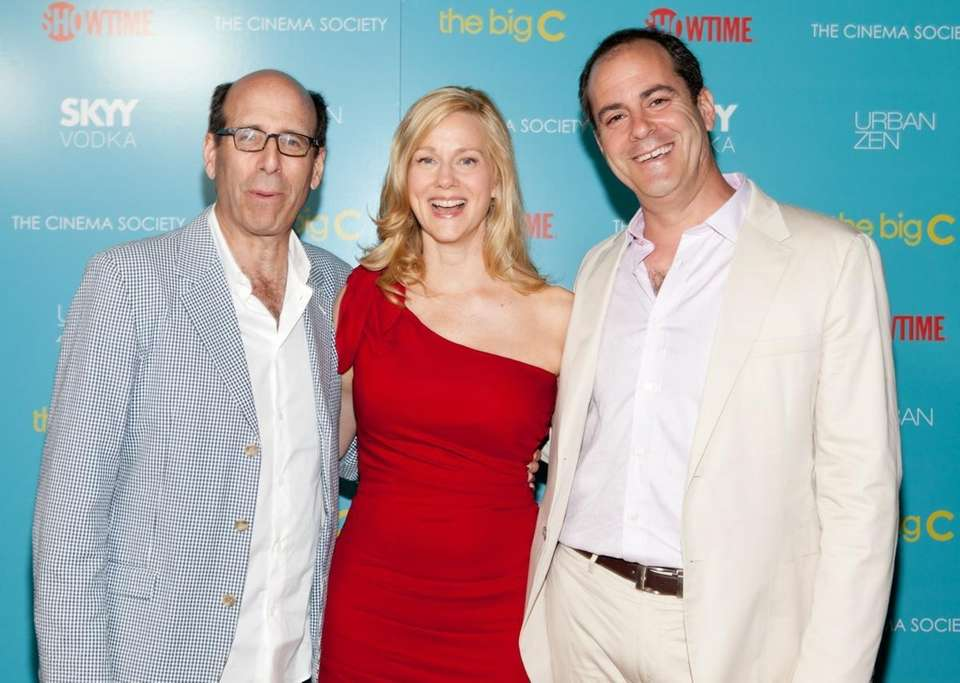 From left, Showtime CEO Matt Blank, actress Laura