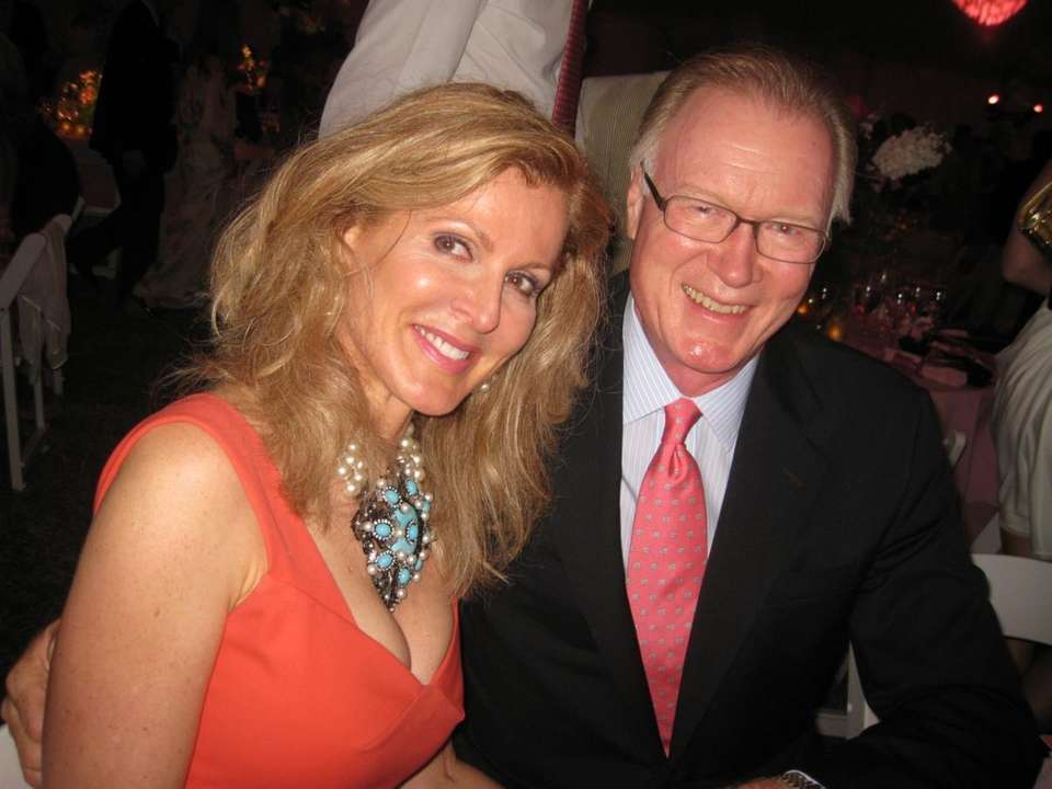 Chuck Scarborough and his wife, Ellen, emceed the