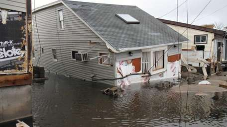 Superstorm Sandy brought flooding to the beachfront community