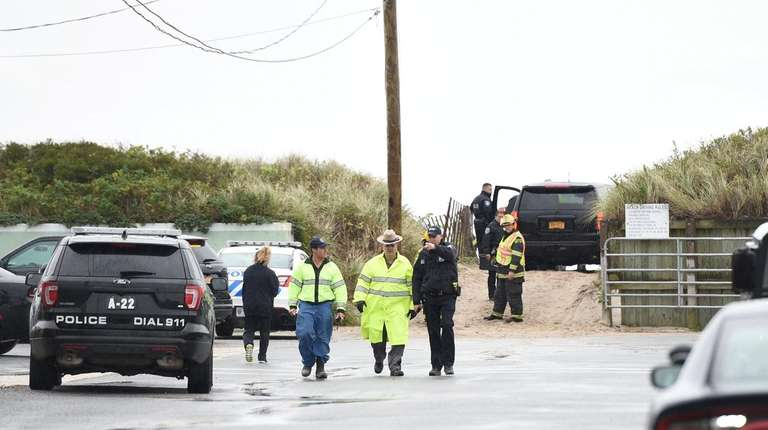 Police and other first responders in Westhampton Beach