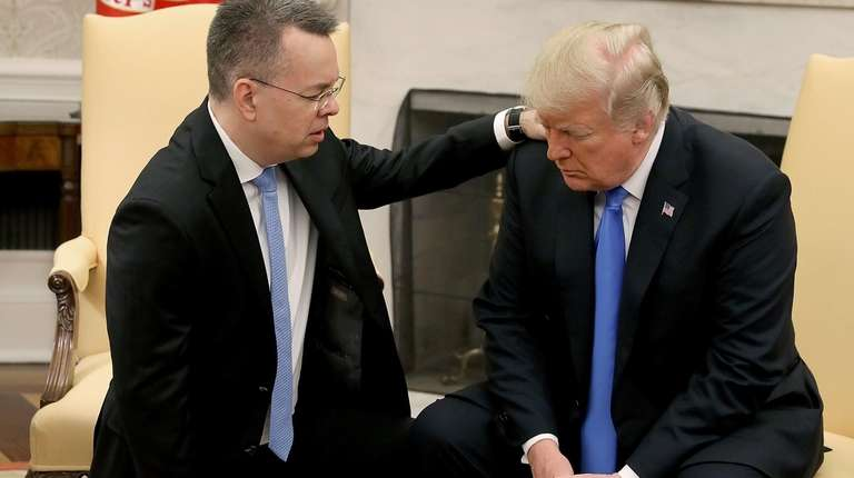 President Trump and American evangelical Christian preacher Andrew