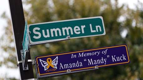 A street dedication in memory of five-year-old Amanda