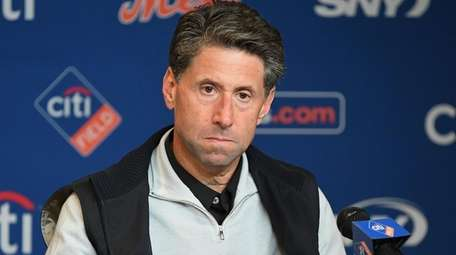 New York Mets COO Jeff Wilpon looks on