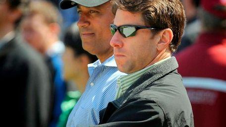 Jeff Wilpon and Omar Minaya. (Apr. 4, 2010)