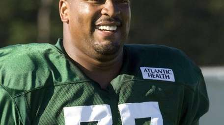 Jets defensive tackle Kris Jenkins is all smiles