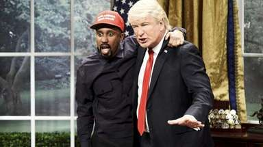 Chris Redd, left, as Kanye West and Alec
