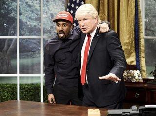Chris Redd, left, as Kanye West and Alec