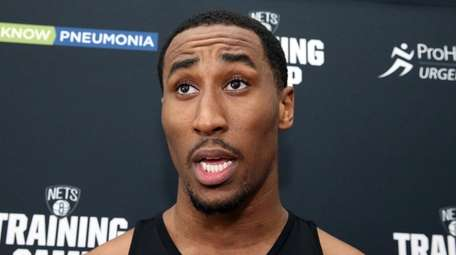 Nets' Rondae Hollis-Jefferson at the Nets practice at