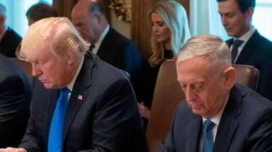 President Donald Trump and Defense Secretary Jim Mattis