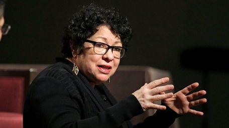 Supreme Court Associate Justice Sonia Sotomayor speaks at