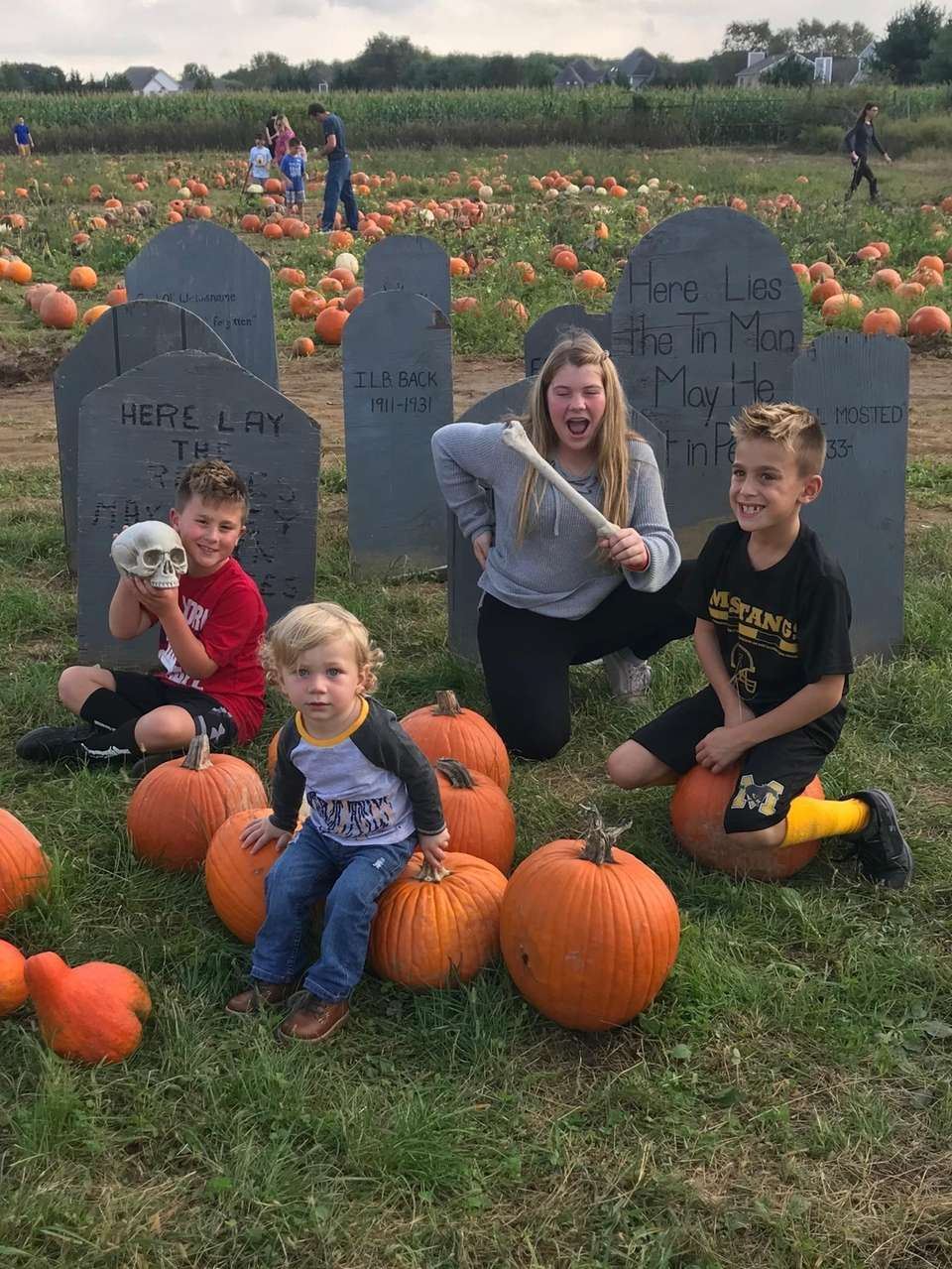 Cousins at the pumpkin patch 2018!! Alexander 1,