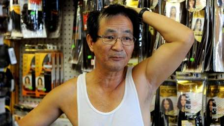 John Kim, owner of Wyandanch Beauty Supply in