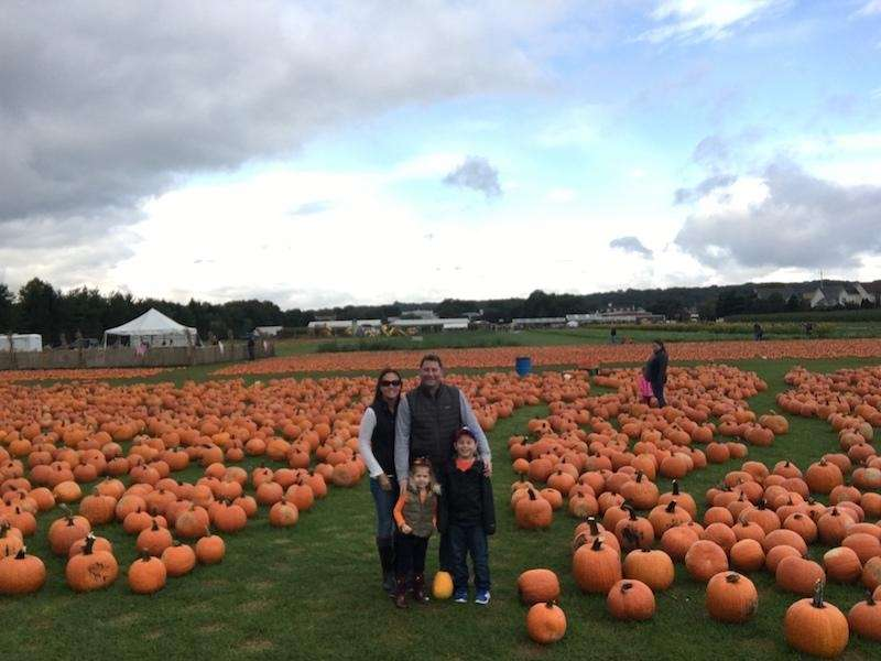 The Anci Family picking pumpkins at Schmidt?s Family