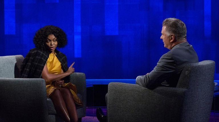 "Alec Baldwin interviewed ""Empire"" star Taraji P. Henson"