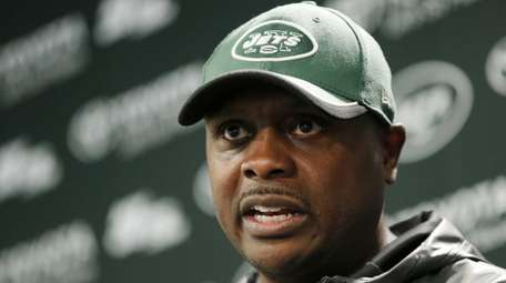 Jets defensive coordinator Kacy Rodgers missed the past