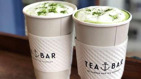 Matcha lattes can be made with dark or