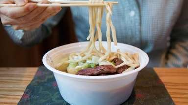 Braised beef noodle soup is on the menu