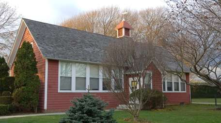 The Sagaponack school district's one-room schoolhouse, on Main