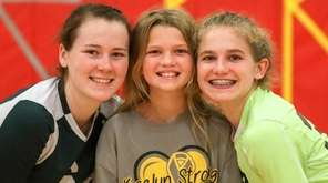 From left, Riley McCandless #6, Kaelyn McCandless and