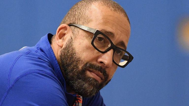 New York Knicks head coach David Fizdale looks