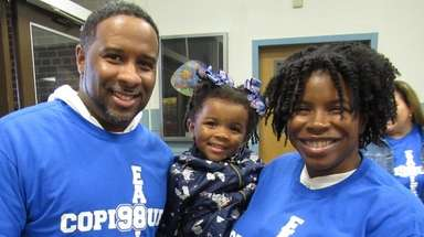 Bradley and Shakira Lewis brought daughter, Makenzie, and