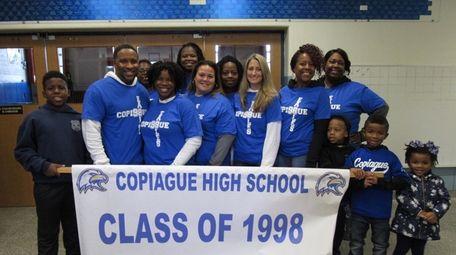 Members of Copiague High School's Class of 1998