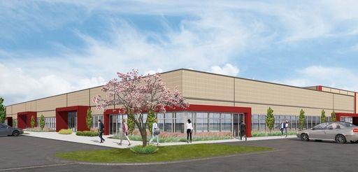Rendering of Rechler Equity Partners' third industrial building