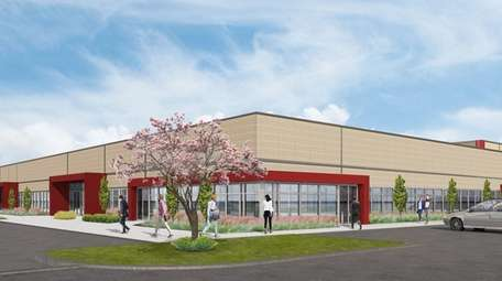 Rendering of Rechler Equity Partners' third industrial building
