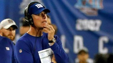 Giants head coach Pat Shurmur against the Eagles