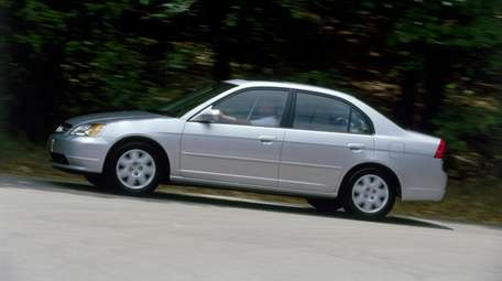 The Honda Civic, like this 2001 model, is