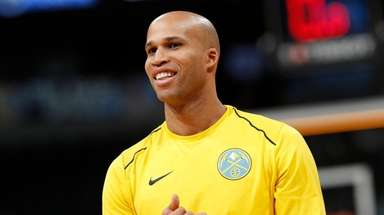 Richard Jefferson (22) appears for the Denver Nuggets