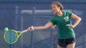 Anna Ma of Ward Melville competes in the