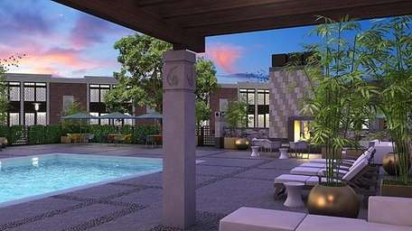 The pool at Hotel Indigo-East End in Riverhead.