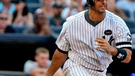 Yankees catcher Jorge Posada, who is approaching 39