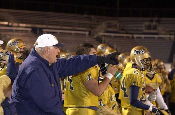 Bethpage High School head football coach Howard Vogts