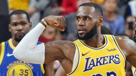 LeBron James of the Los Angeles Lakers .