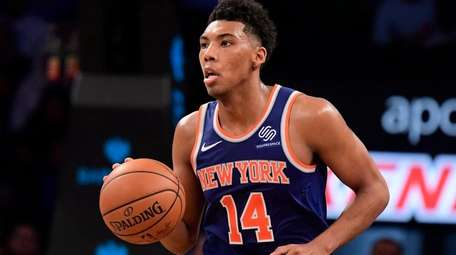 Allonzo Trier of the New York Knicks on