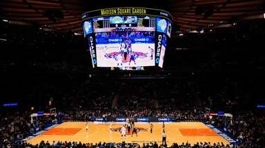 A Knicks game at Madison Square Garden is