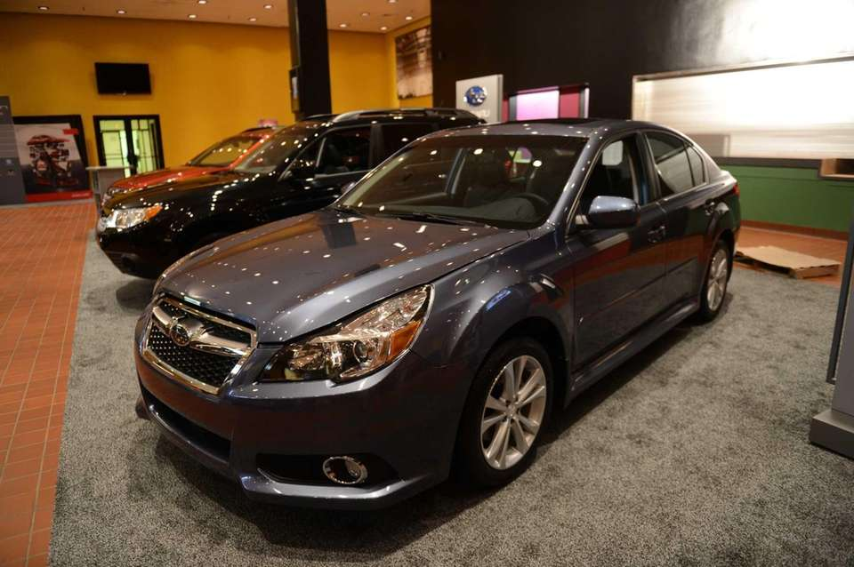 The 2013 Subaru Legacy at the Long Island