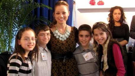 Food Network chef Marcela Valladolid with Kidsday reporters