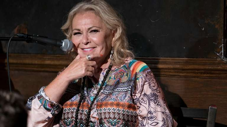 Roseanne Barr at a podcast taping at Stand
