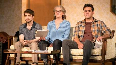 From left, Daniel Radcliffe, Cherry Jones and Bobby