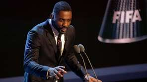 Idris Elba speaks during The Best FIFA 2017