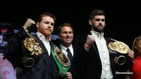 WBA/WBCmiddleweight champion Canelo Álvarez (50-1-2, 34 KOs) and