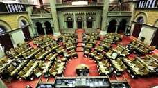 The New York State Assembly chamber at the