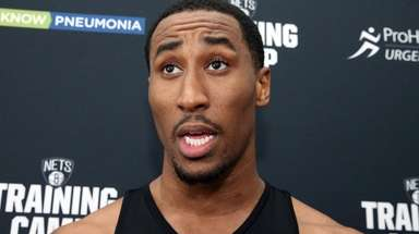 Nets' Rondae Hollis-Jefferson at practice at HSS Training