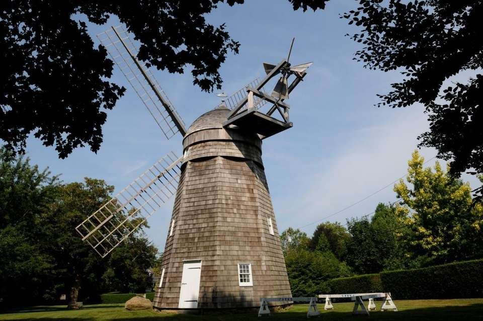 The Beebe Windmill, first built in 1820, is