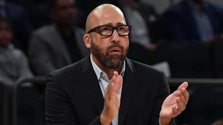 Knicks head coach David Fizdale reacts during a
