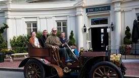 1902 Mercedes arrives at Pebble Beach with Bentley