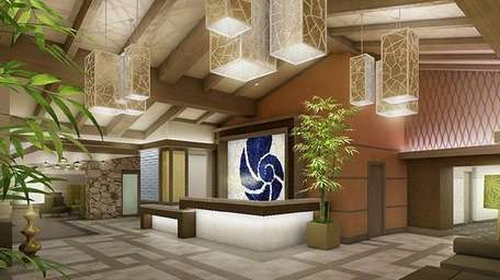 The lobby at Hotel Indigo-East End, a franchise
